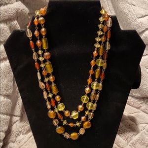 Coldwater Creek 3 Strand Bead Necklace
